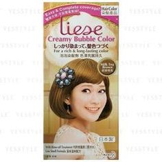Kao - Liese Creamy Bubble Hair Color (Milk Tea Brown). Color and style f1b3388094cd