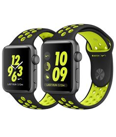 Shop Apple Watch Nike+ Series 2 Space Grey Aluminium in 38mm or 42mm with…
