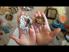 How To Make Junk Journal Flowers - YouTube