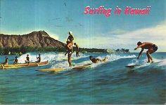 Vintage #hawaiian 1960's #surfing in #hawaii waikiki honolulu #diamond head , View more on the LINK: http://www.zeppy.io/product/gb/2/162061198718/