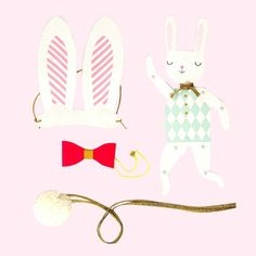 Postbox Party Easter Bunny Dress Up Kit And Diy Puppet
