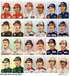 Formula 1 2012 line-up by forskuggad.deviantart.com on @deviantART