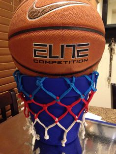 Basketball Centerpiece Basketball Birthday Parties, Sports Birthday, Sports Party, Grad Parties, Sports Banquet Centerpieces, Bar Mitzvah Centerpieces, Banquet Decorations, Jordan Baby Shower, Basketball Decorations