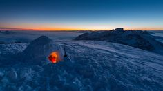 Snowy Shelter - by Tobias Ryser (Nice snowy shelter to eat a Swiss Fondue! :-) - in Switzerland)