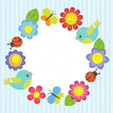 Illustration of Frame with flowers, birds, ladybugs and butterflies vector art, clipart and stock vectors. Borders For Paper, Borders And Frames, Butterfly Frame, Flower Frame, Owl Vector, Vector Art, Ladybug Cartoon, Doodle Frames, Free Frames