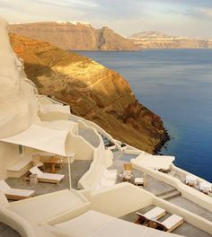 Perched on the cliffs above the caldera. #Santorini