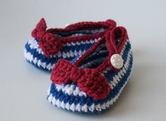 Crochet Pattern Nautical Baby Boots pattern crochet baby shoes, crochet slipper pattern (52) email pdf pattern