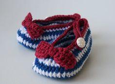 Crochet Pattern Nautical Baby Boots pattern crochet baby shoes, crochet slipper pattern (52) email pdf pattern
