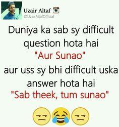 Sb yhi puchti h. Hindi Shayari Funny, Funny Quotes In Hindi, Jokes In Hindi, Funny Quotes For Teens, Best Quotes, Fun Quotes, Jokes Quotes, Urdu Quotes, Motivational Quotes
