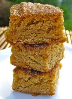 soft snickerdoodle blondies. get it my mouth!