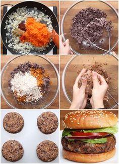 Hamburguesa vegetariana / vegana rica y facil ;)