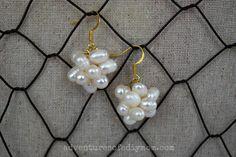 Adventures of a DIY Mom - DIY Pearl Cluster Earrings