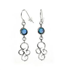 Silver Earrings with Opal - catalog