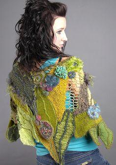 Freeform leaf shawl ~ inspiration