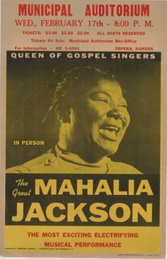 Mahalia Jackson concert poster, 1962; currently on view in Women Who Rock, NMWA