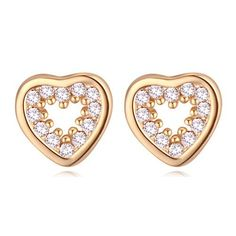 Cheap fashion stud earrings, Buy Quality stud earrings directly from China stud earrings vintage Suppliers: AAA Zircon Earrings For Women's Birthday Gift Heart CZ Stud Earrings Vintage Fashion Jewelry 20356 Stone Earrings, Heart Earrings, Crystal Earrings, Crystal Jewelry, Women's Earrings, Diamond Earrings, Jewelry Showcases, Heart Shaped Diamond, Birthday Gifts For Women