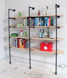 HomeMade Modern DIY Pipe Shelves Options