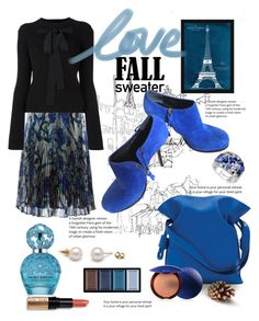 """Blue"" by ornellag ❤ liked on Polyvore featuring Christopher Kane, Rochas, Balenciaga, Loewe, Vintage Print Gallery, Clé de Peau Beauté, Effy Jewelry, Guerlain, Bobbi Brown Cosmetics and Marc Jacobs"