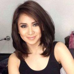 Hair Color Asian Filipino Ideas For 2019 Hair Color Asian, Hair Color And Cut, Haircut And Color, Asian Hair, Medium Hair Cuts, Short Hair Cuts, Medium Hair Styles, Long Hair Styles, Mom Hairstyles
