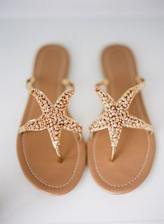 Beachy starfish sandals: http://www.stylemepretty.com/2016/03/17/tap-into-your-grecian-goddess-with-greek-inspired-sandals/