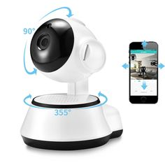 Smart Home Security Wireless Wifi HD Camera with Audio Record-Surveillance/ Baby Monitor Smart Home Security, Wireless Home Security Systems, Security Cameras For Home, Security Alarm, House Security, Security Tips, Wi Fi, Audio, Smartwatch