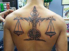 Libra Zodiac Tat - http://www.lovely-tattoo.com/libra-zodiac-tat/