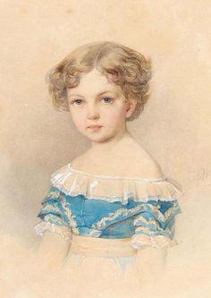 Alekszandra Alekszandrovna (1842-1849) first child of tsar Alexander II and tsarina Maria Alexandrovna
