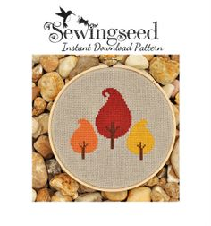 Autumn Trees Cross Stitch Pattern Instant Download