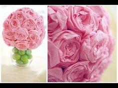 ▶ Diy: paper flower ball - YouTube