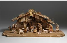 KO Nativity set 6 pcs. - stable H. Family - KOSTNER NATIVITY SET Woodcarvings from Tirol Bello Belén - Beautiful Nativity #Weihnachtskrippe #Nativity #Nacimiento #Belén