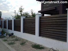 Garduri din lemn Sibiu 2 Modern Fence Design, Wooden Fence, Design Case, Garage Doors, Romania, Interior, Outdoor Decor, Fences, Home Decor