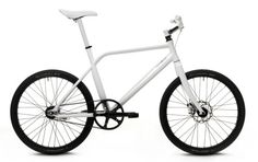 """ThinBike by Schindelhauer. Isn't this just perfect? """"A full-size bicycle with inventive and elegant solutions for inner-city traffic, like an integrated taillight or a bell built into the brake lever"""" Includes a carbon belt driven 2-speed internal hub. The pedals fold, and the handlebars twist for a very narrow profile!"""