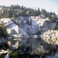 Abandoned Island Rock Quarry Off the Coast of Maine Photographic Print by Walker Evans at Art.com