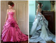 Oh Lordy!! Can I get married again & order the one on the right in purple?!