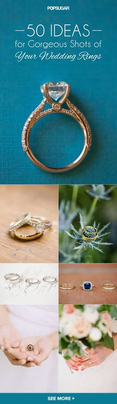 "The Wedding Ring Pictures You Have to Take on Your Big Day: photo ideas to take of your wedding bands before you say ""I do"""