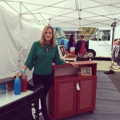 On the set of #FleaMarketFlip - check out more great design ideas in my new book #FleaMarketFabulous