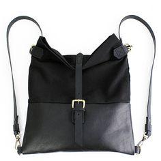 Roby backpack in black! www.genuinemyself.com