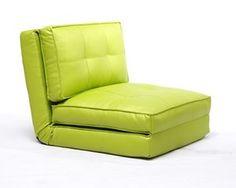 chair bed, single sleeper, twin sleeper, sofa bed, small space, dorm room, guest room, kids' room