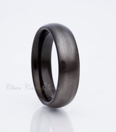 Tungsten Wedding Band,Gunmetal Tungsten,Men's Tungsten Ring,Handmade,Tungsten Carbide,Brushed Polihs,Dome,Comfort Fit,Anniversary,6mm by CleanCastingJewelry on Etsy