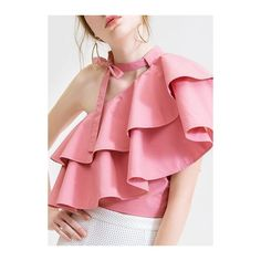 todosobrefashion:(via Side Tie Neck Flouncing One Shoulder. Preteen Girls Fashion, Teen Fashion Outfits, Girly Outfits, Trendy Tops For Women, Stylish Tops, Stylish Dresses, Skirt Fashion, Fashion Dresses, Choli Blouse Design