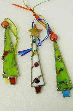 cute Stained Glass Christmas by miloglass, $23.00