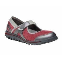 Propet Women's Onalee Shoe Red / Silver 9 N (AA) & Oxy Cleaner Bundle (*Partner Link) Plantar Fasciitis Shoes, Flats With Arch Support, Mary Jane Shoes, Kid Shoes, Comfortable Shoes, Mary Janes, Athletic Shoes, Sneakers, Supportive Sandals