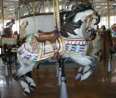 Carmel Outside Row Jumper 1911 Murphy/Carmel/Looff Carousel at Lighthouse Point Park New Haven, CT © Chris K Benson September 2003 Carosel Horse, Fair Rides, Sweet Drawings, Circus Theme, Circus Art, Modern Dollhouse, Victorian Dollhouse, Wooden Horse, Painted Pony