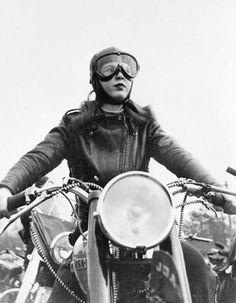 Vintage motorcycle girls