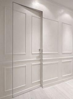 Holiday Flat – Picture gallery - New Deko Sites Hidden Doors In Walls, Hidden Rooms, Door Design, House Design, Invisible Doors, Flat Picture, Wall Molding, Secret Rooms, Bedroom Doors