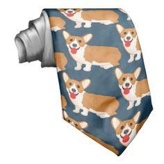 corgi dog neck tie