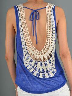 Royal Blue Open Crochet Back Tank – Texas Two Boutique