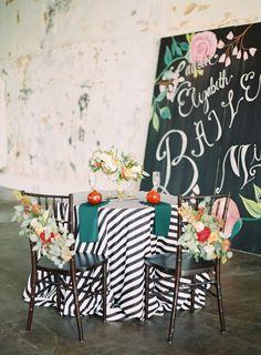 sweetheart table | Landon Jacob #wedding