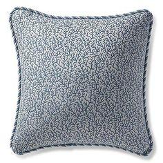 Melita Cay Chambray Outdoor Pillow