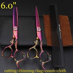 Hairdresser Haircut Scissors Set 6 Inch Hair Scissors Professional Genuine Barber Shop Special Shears Hair Clippers Styling Tools